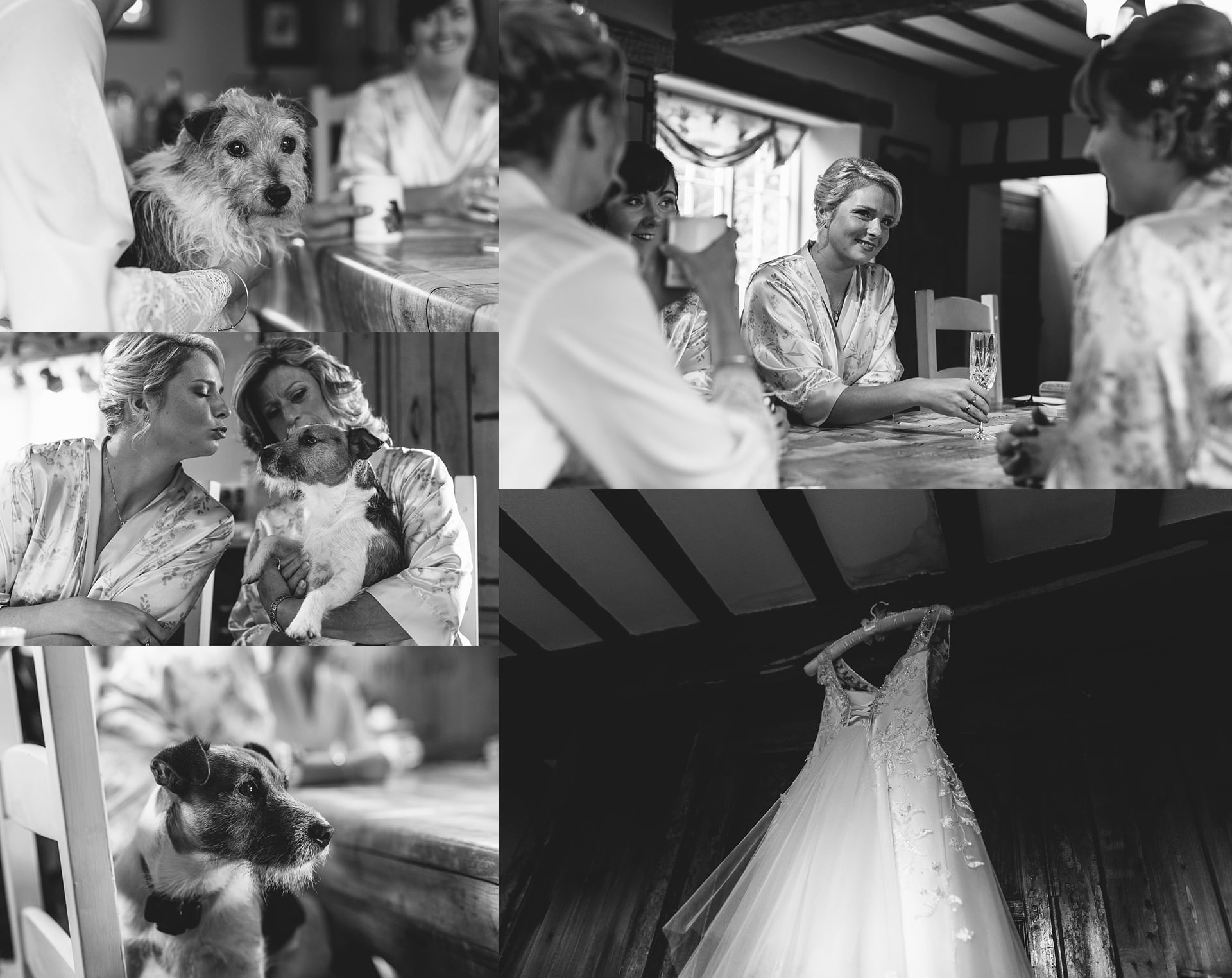 arah getting ready with Shropshire Documentary Wedding Photographer PbArtWorks