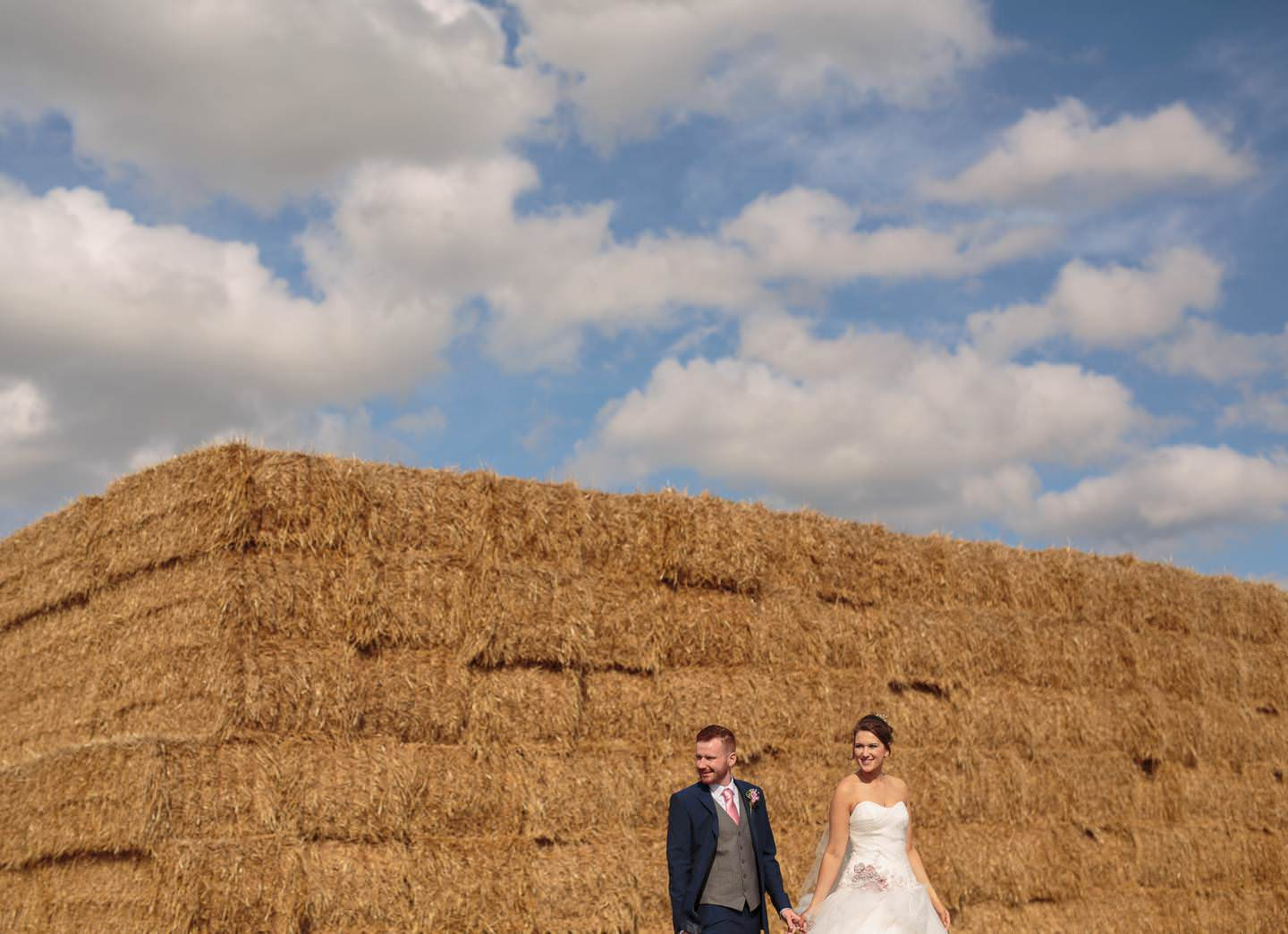 bride and groom at the albright hussey, with shropshire wedding photographer Phil Barrett