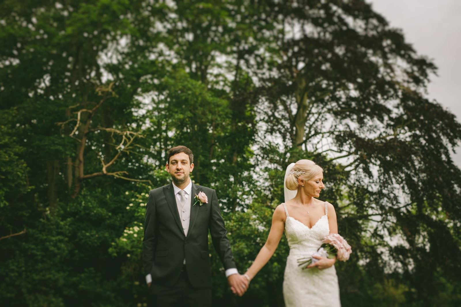 wedding photographer in Shropshire with a beautiful bride and groom at Shooter's Hill Hall