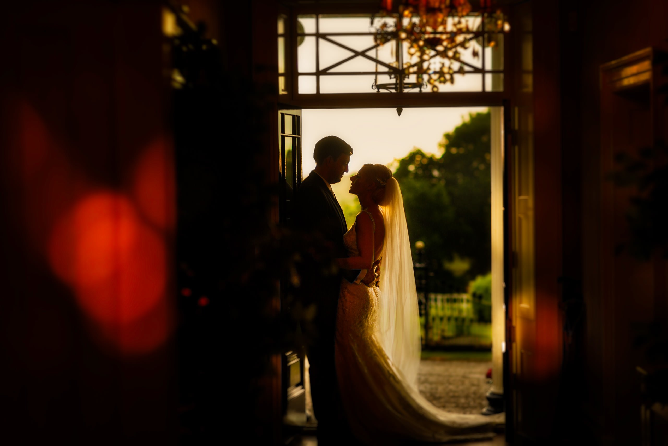 wedding photographer in Shropshire capturing a beautiful moment at Shooters Hill Hall