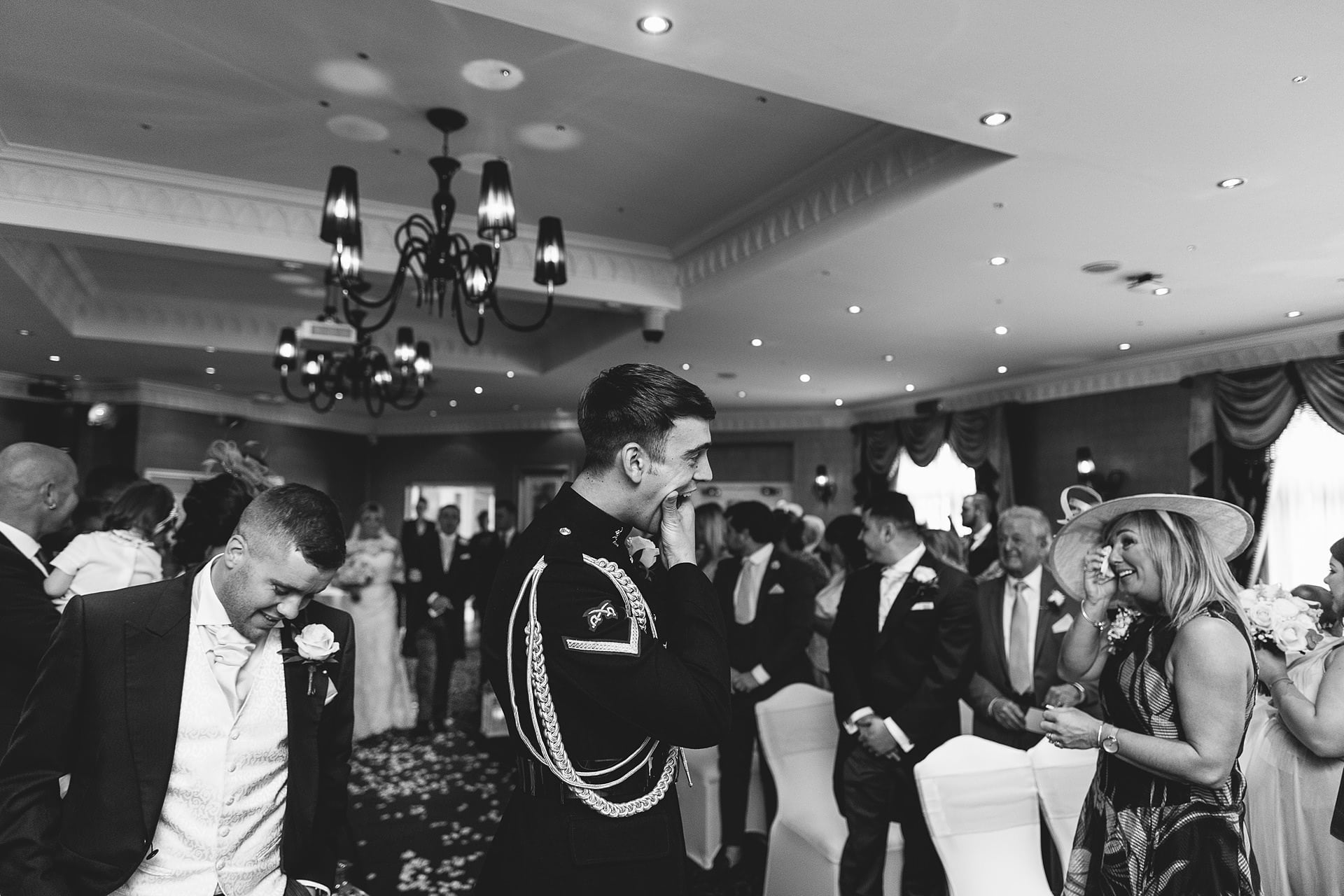 Shropshire Documentary Wedding Photographer captures pure emotion as the groom waits for his beautiful bride