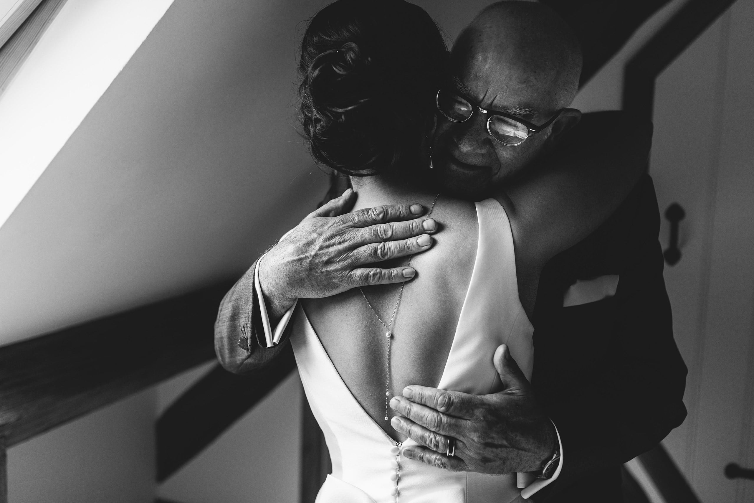 A beautiful moment between a bride and her Father
