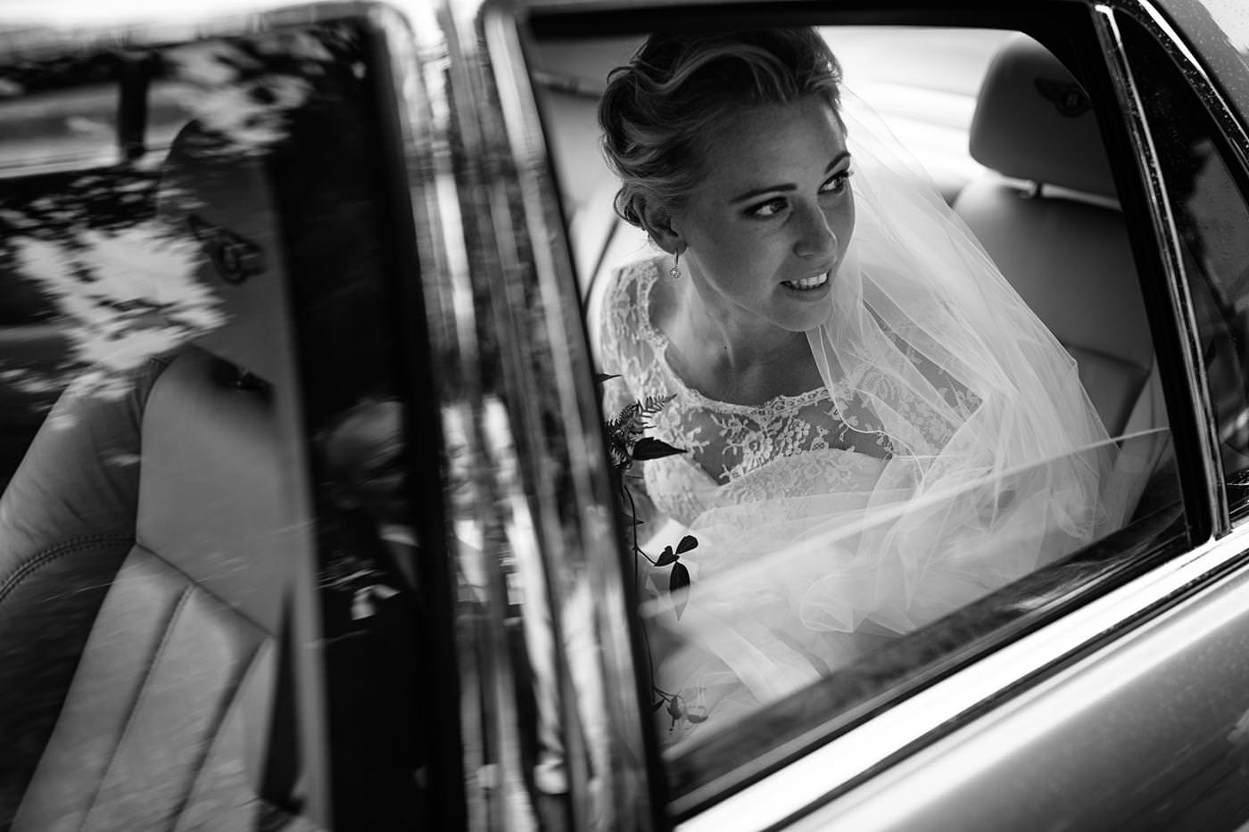 Arrival of bride taken by North Wales Wedding Photographer Phil Barrett
