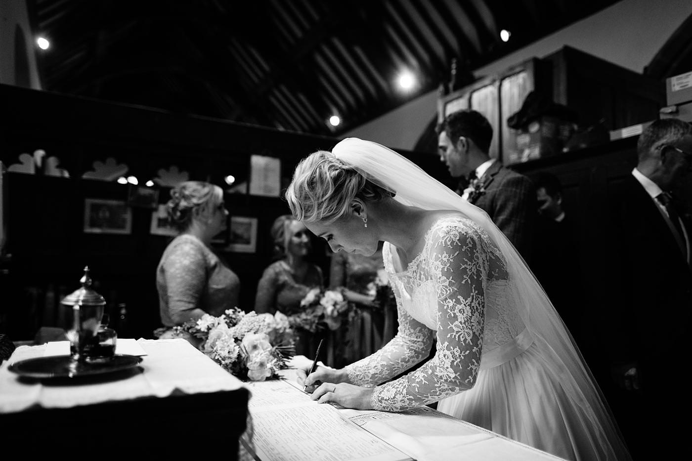 the signing of the register taken by North Wales Wedding Photographer Phil Barrett