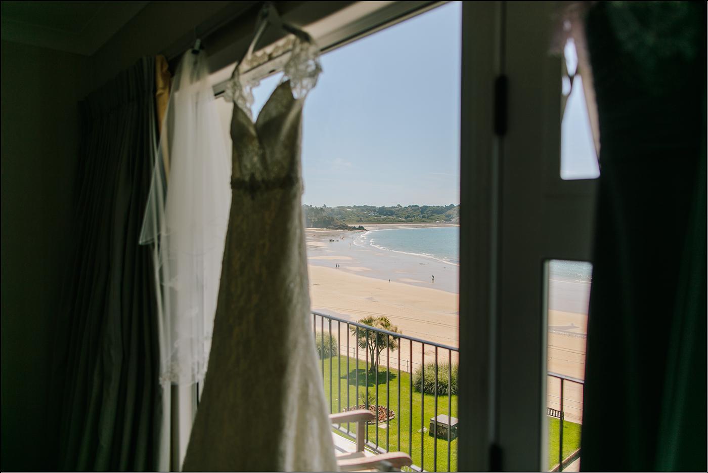 wedding dress with Shropshire destination photographer