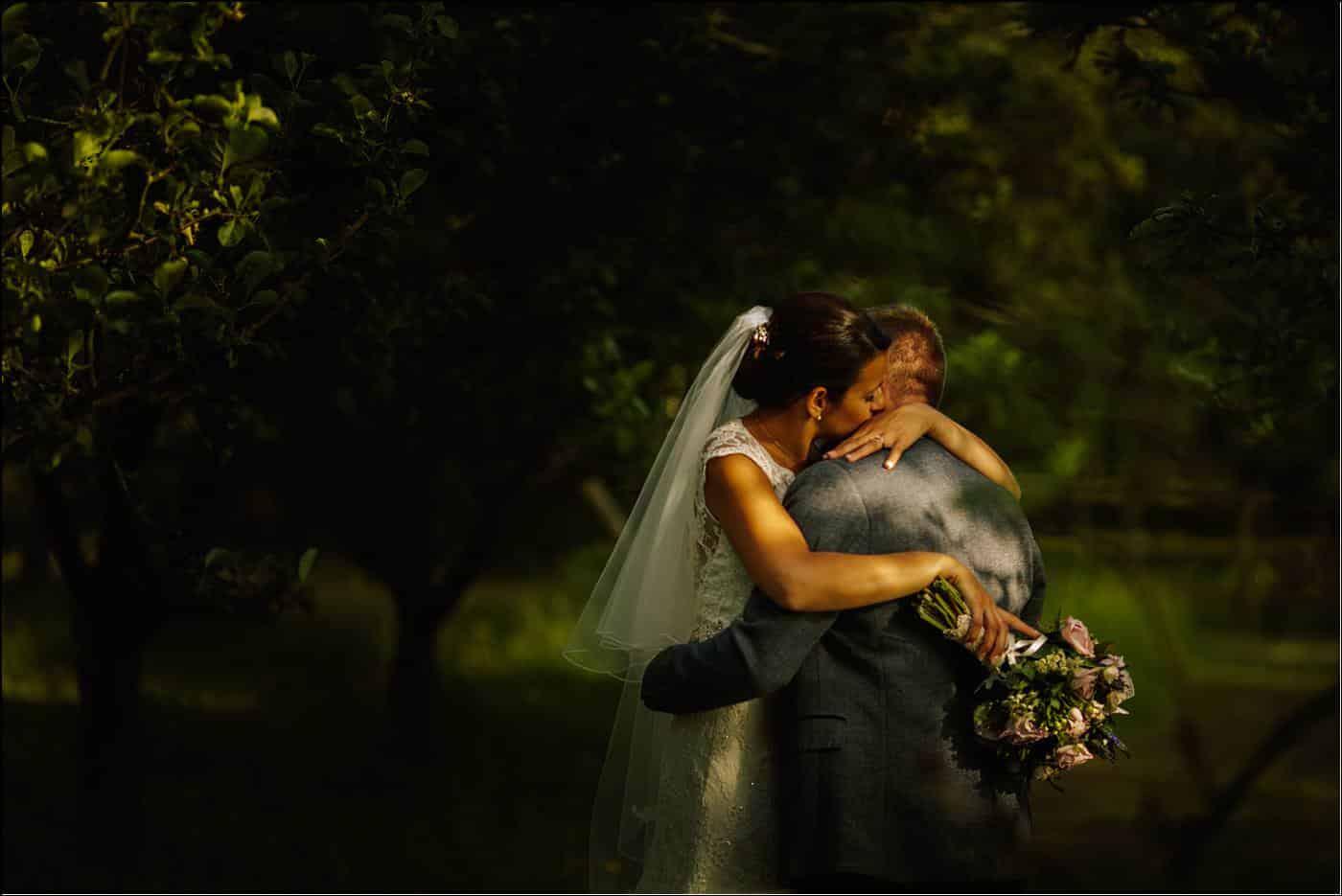 bride and groom with Shropshire destination photographer