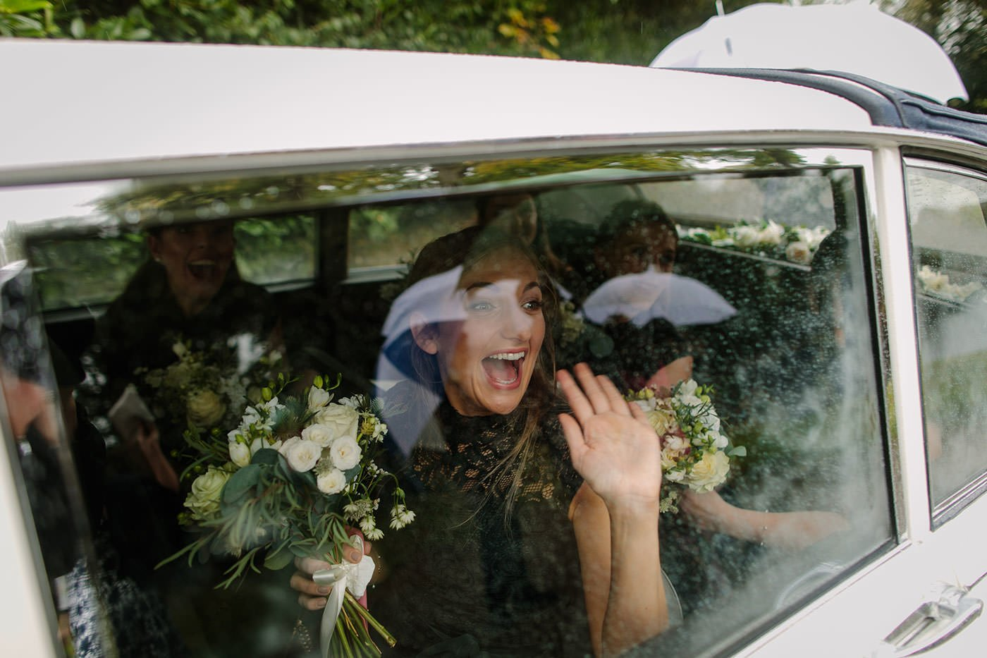 Storm Brian rages around the brides maids, captured by North Wales Photographer PbArtWorks