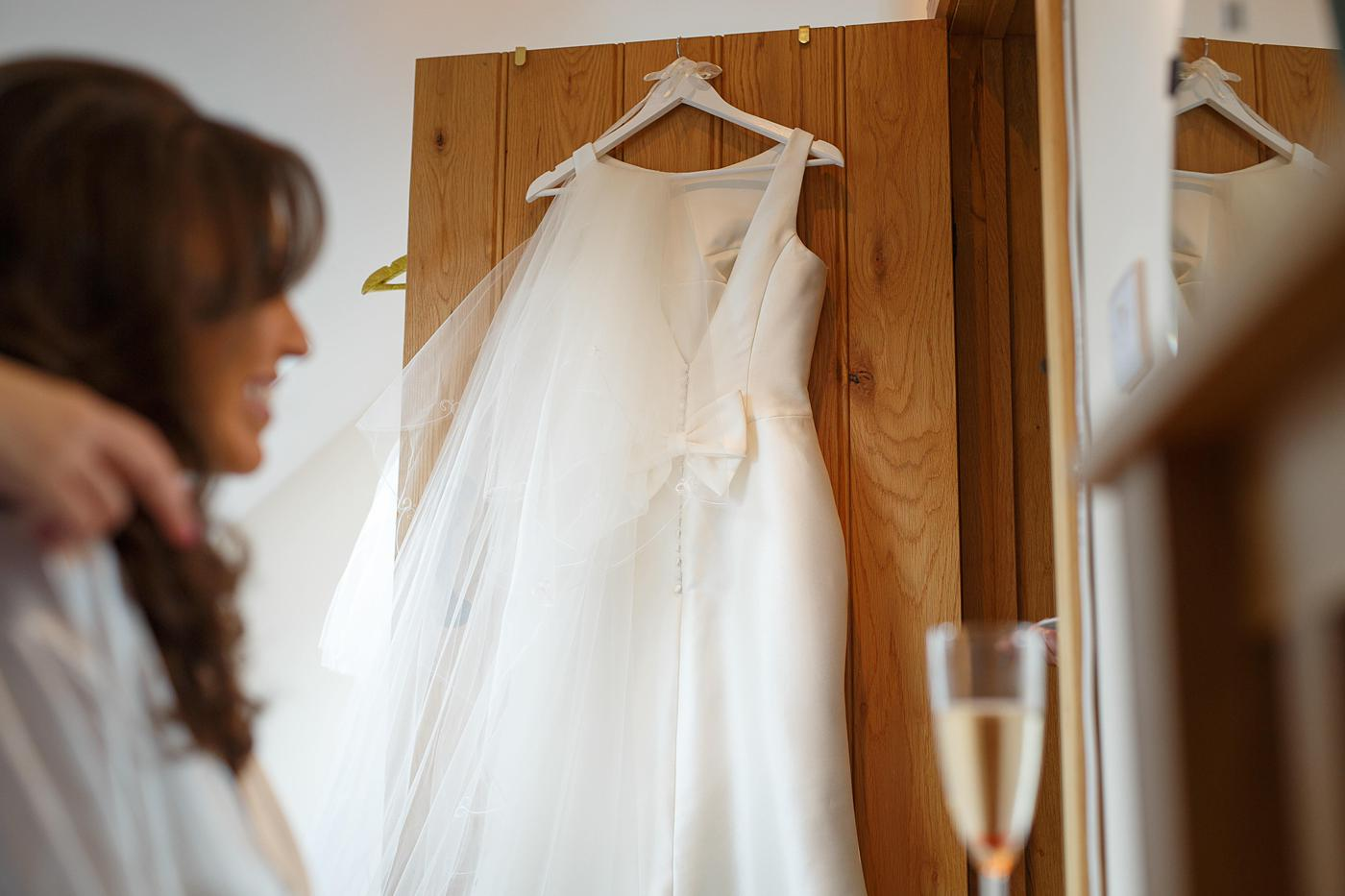 wedding dress with bride