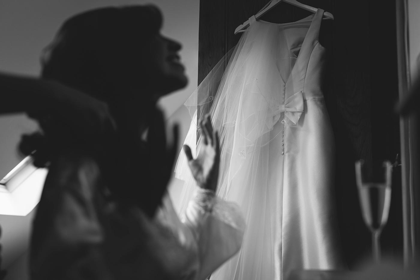 wedding dress in mono