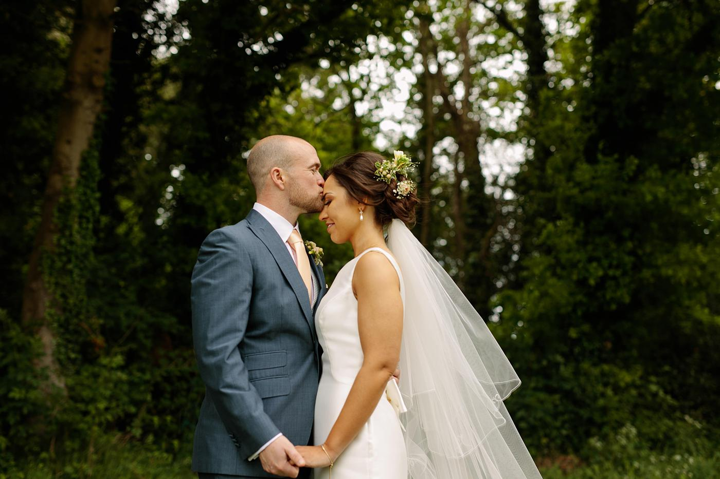 newly married couple at Winstanstow Village Hall