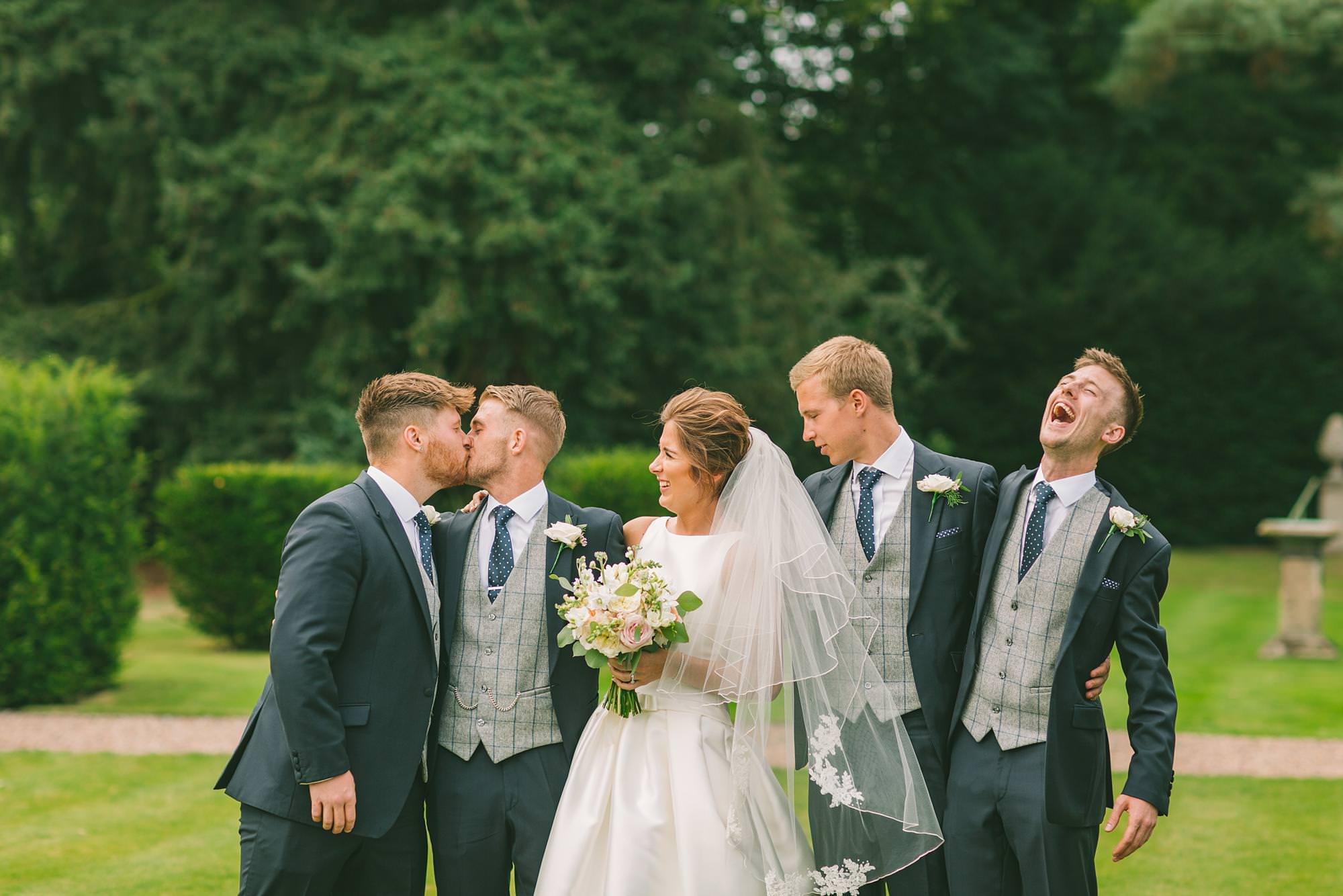 shropshire wedding and portrait photographer captures images of wedding party at Iscoyd park