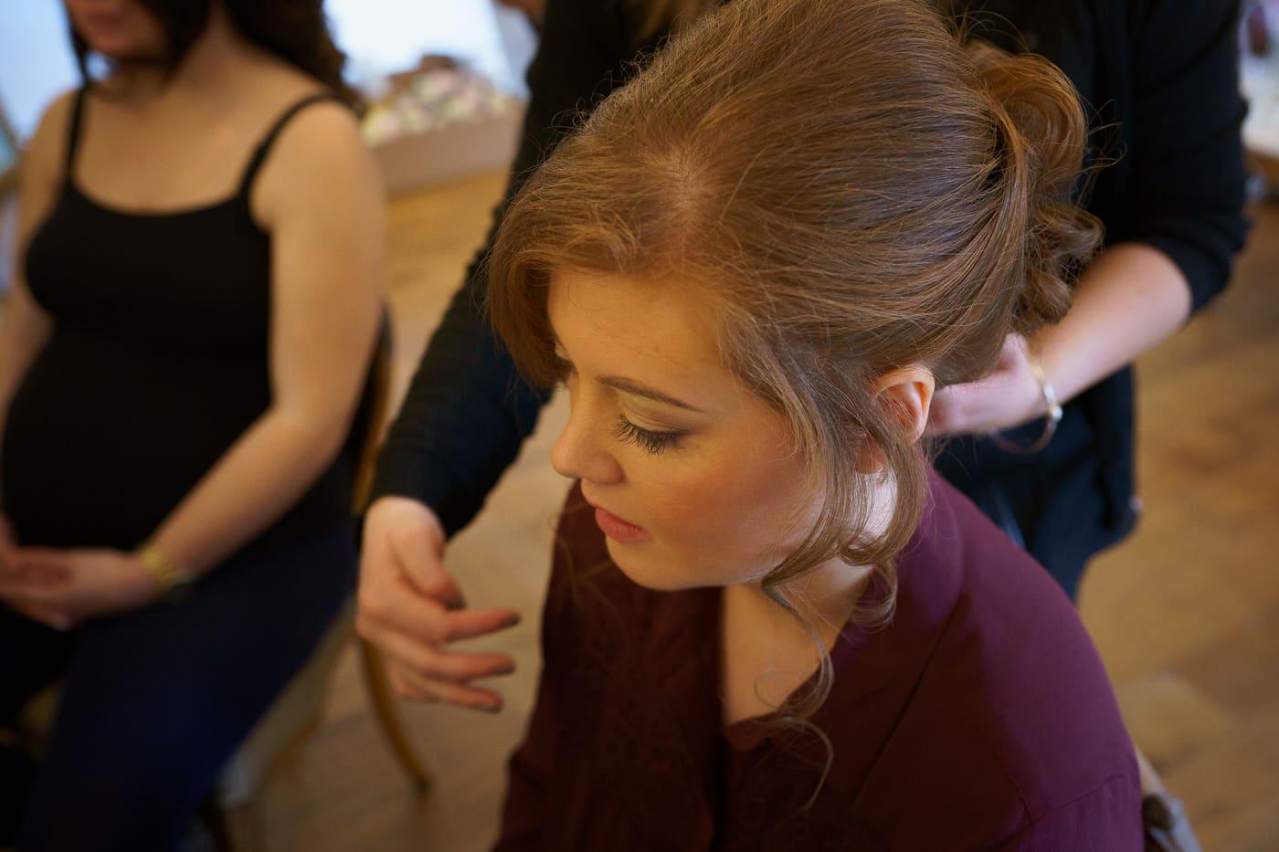 Bride preparations at a Tyn Dwr Hall Wedding