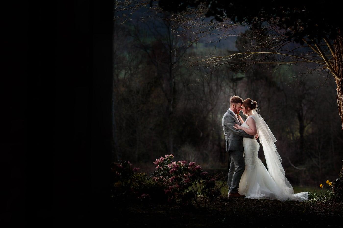 Tyn+Dwr+Hall+Wedding with bride and groom