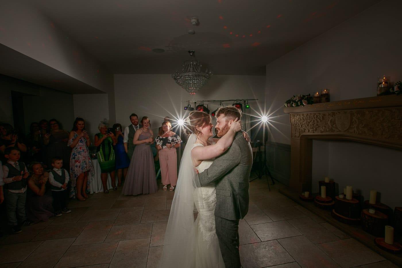 first dance at a Tyn Dwr Hall Wedding in North Wales