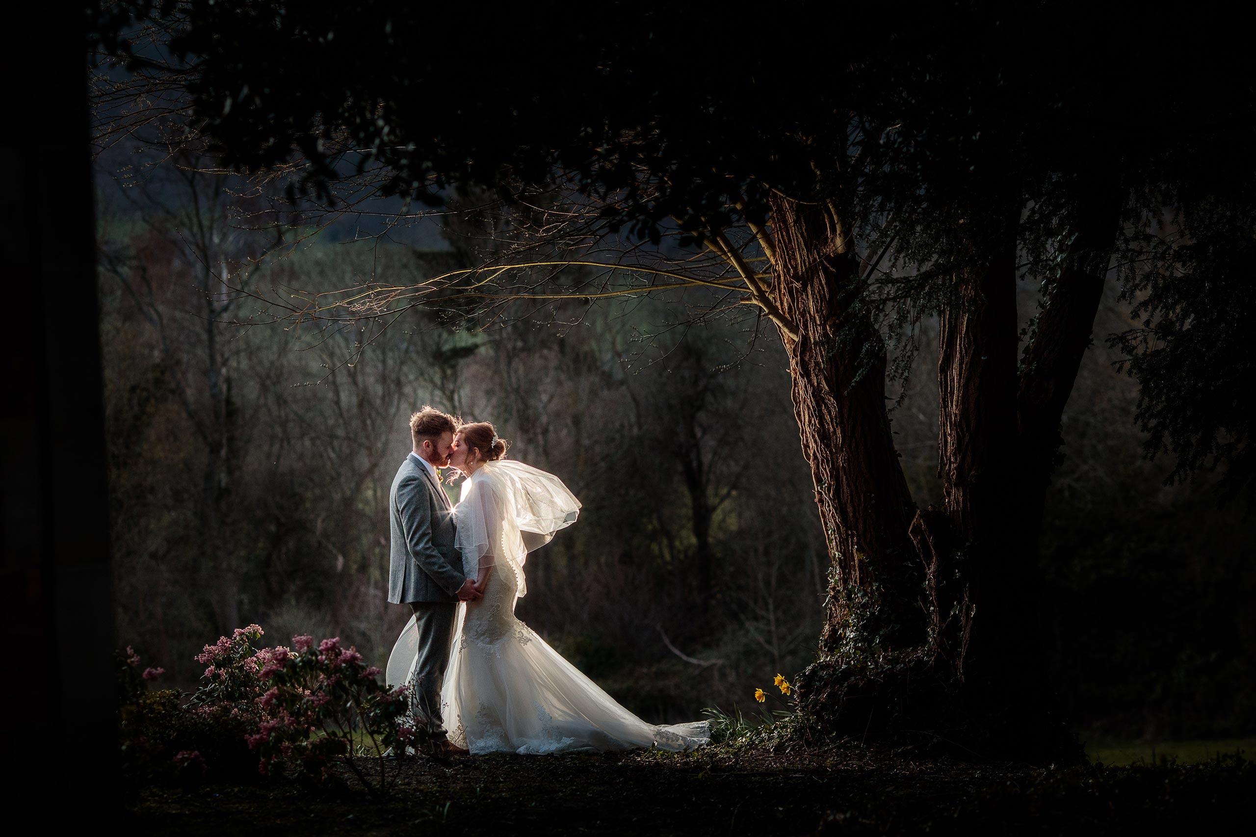 Bride and Groom at a Tyn Dwr Hall Wedding