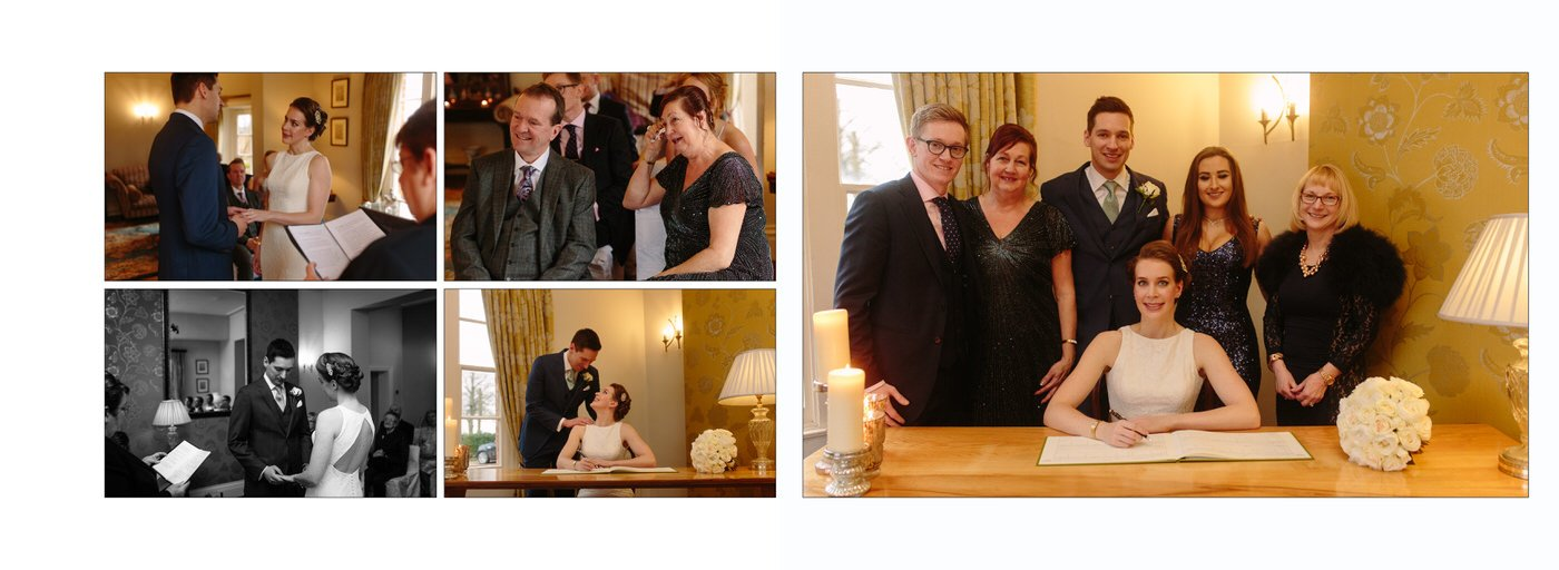 Images captured by Shropshire Wedding photographer at Goldstone HAll