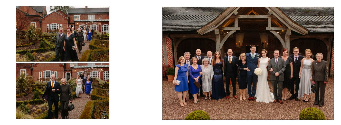Wedding photography at Goldstone Hall captures guests