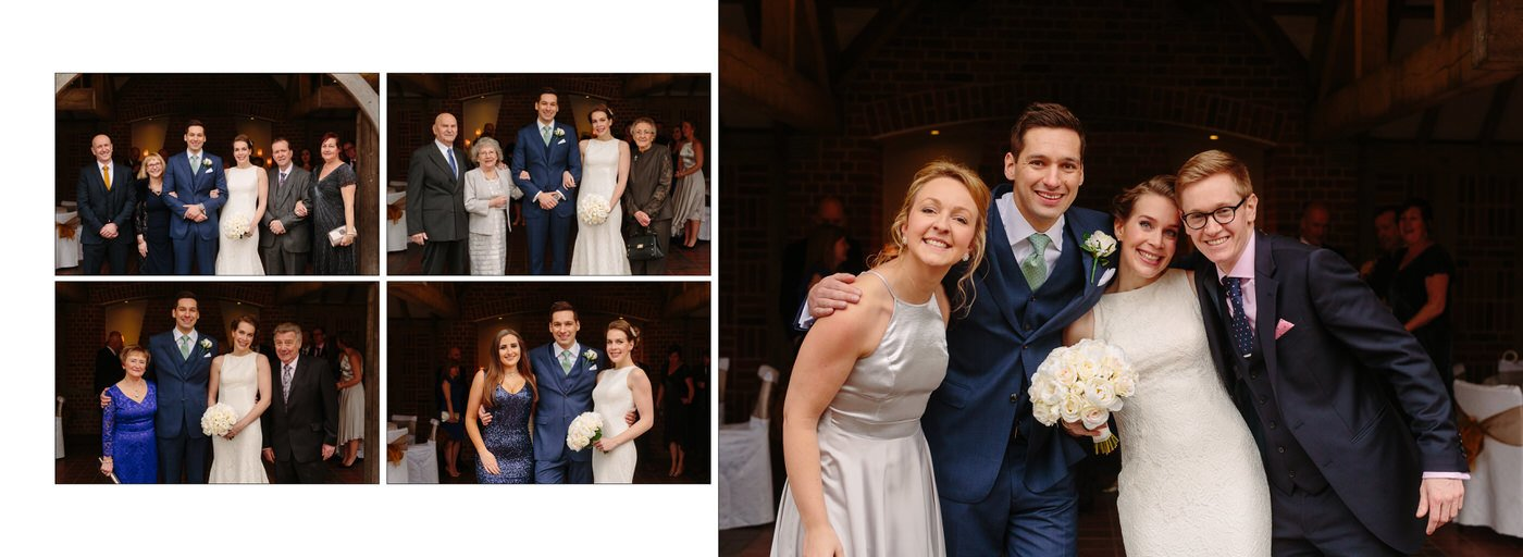 Formal wedding photographs taken at Goldstone Hall by Shropshire wedding photographer Phil Barrett