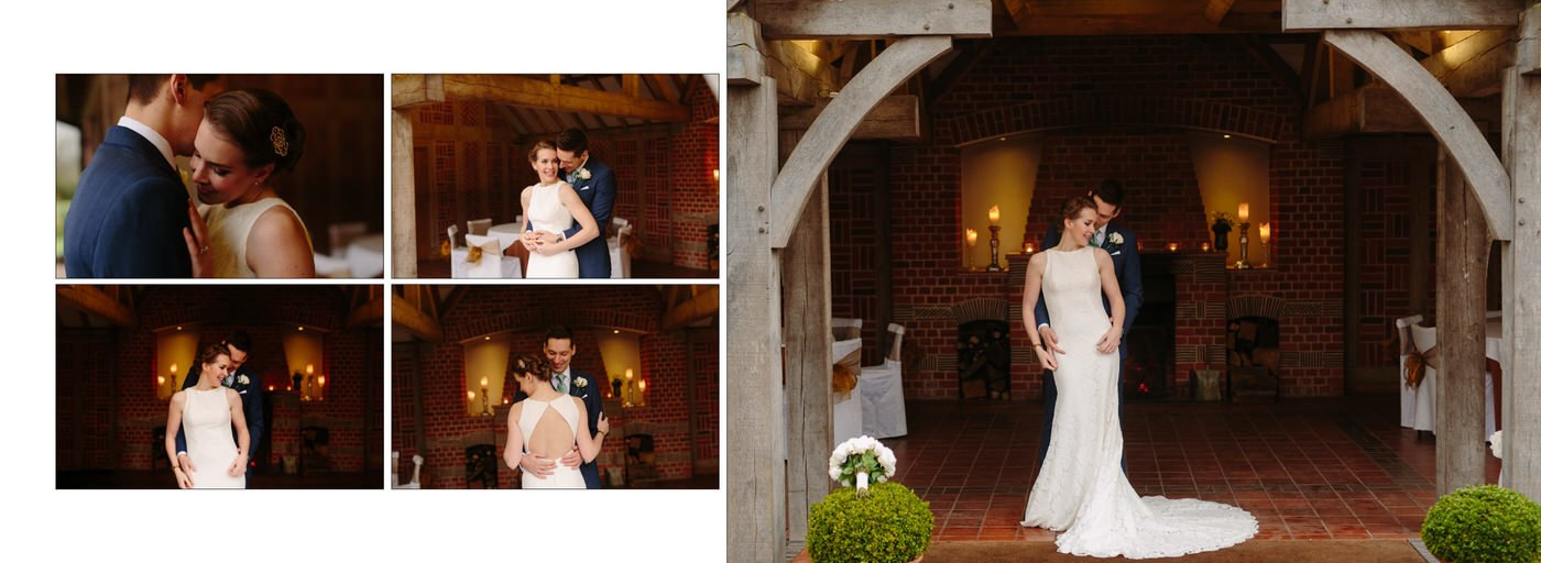 Bride and groom portraits at Goldstone Hall in Shropshire