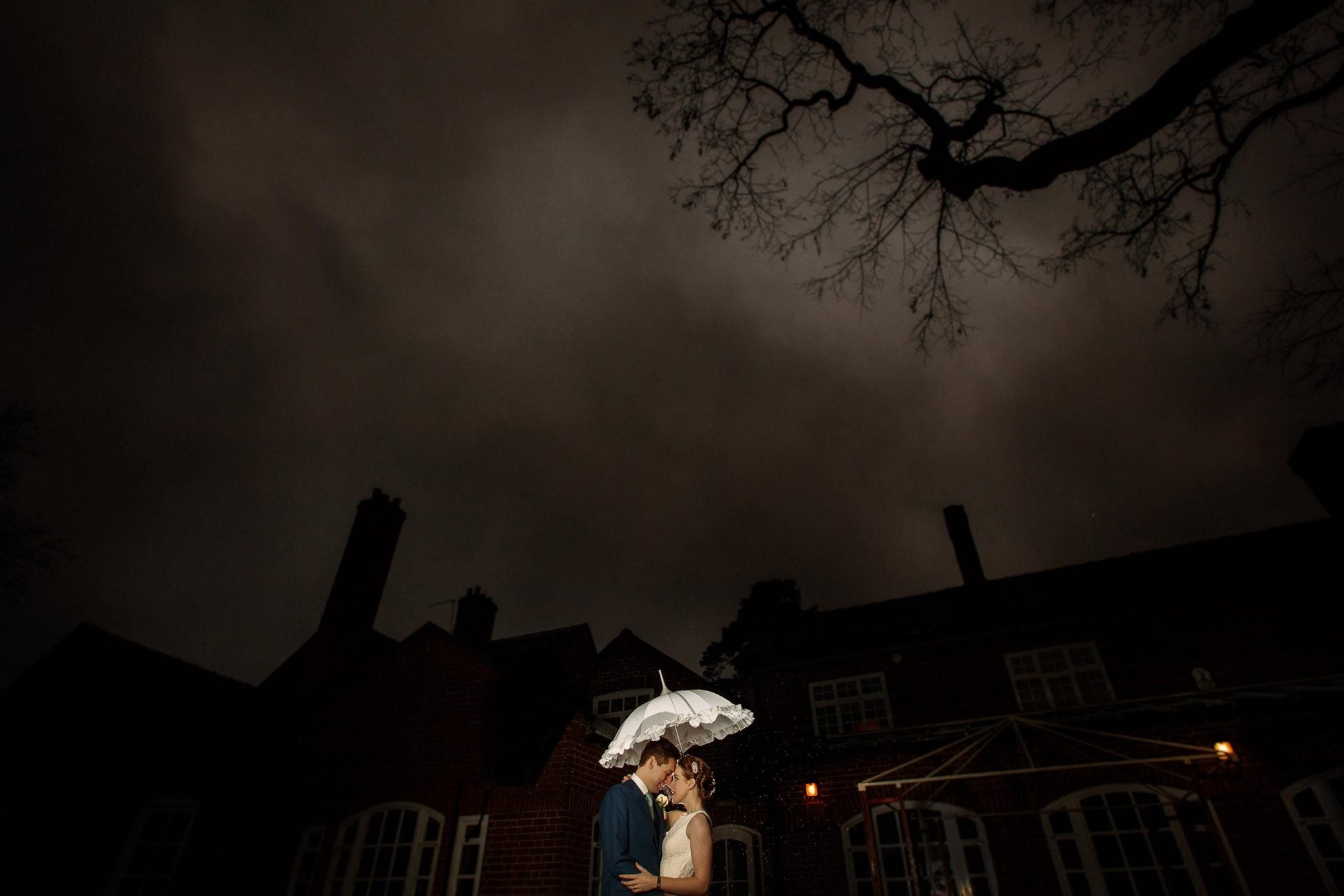 Bride and groom at Goldstone Hall, captured by shropshire wedding photographer PbArtWorks