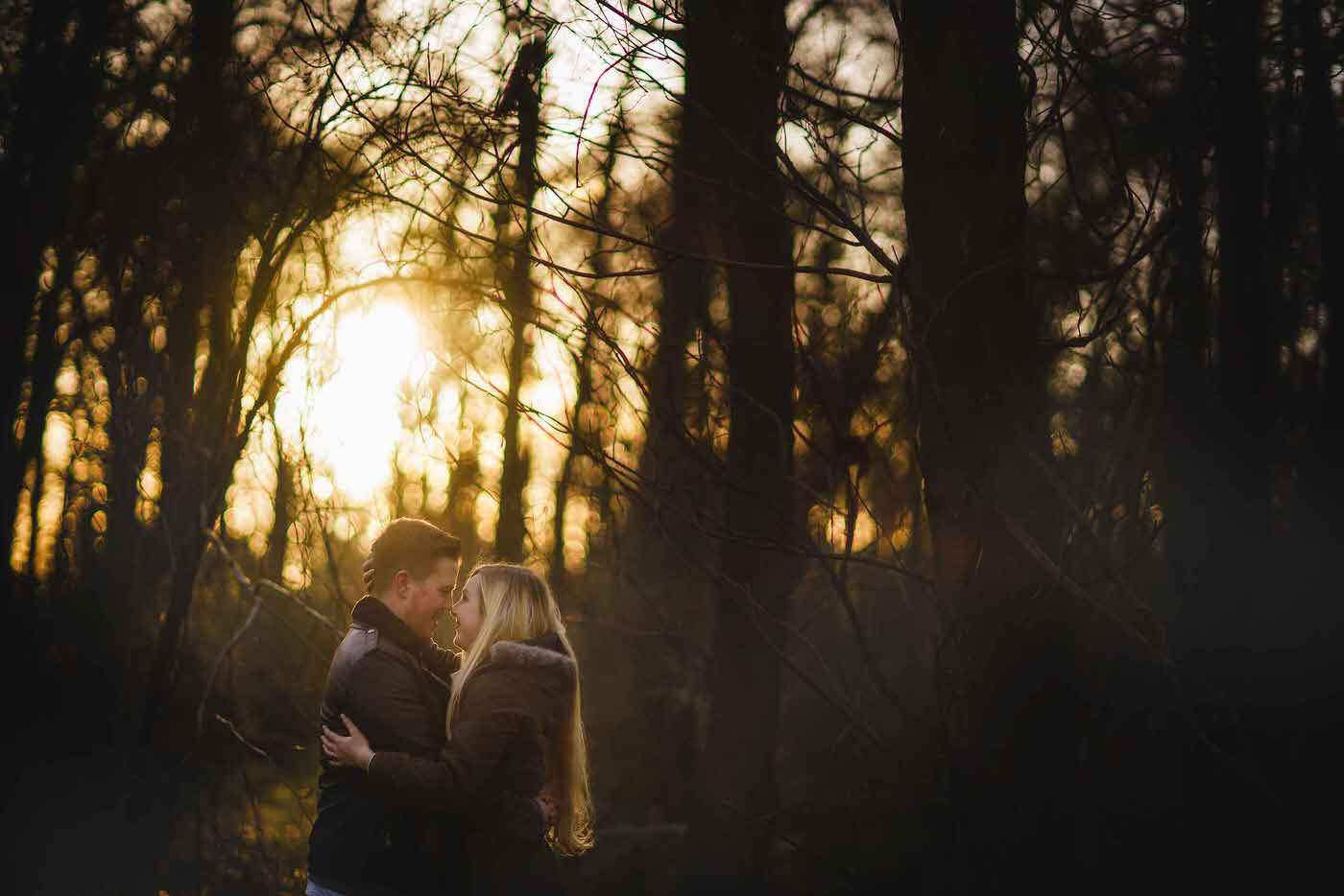 Shropshire lifestyle photographer with couple at Colemere