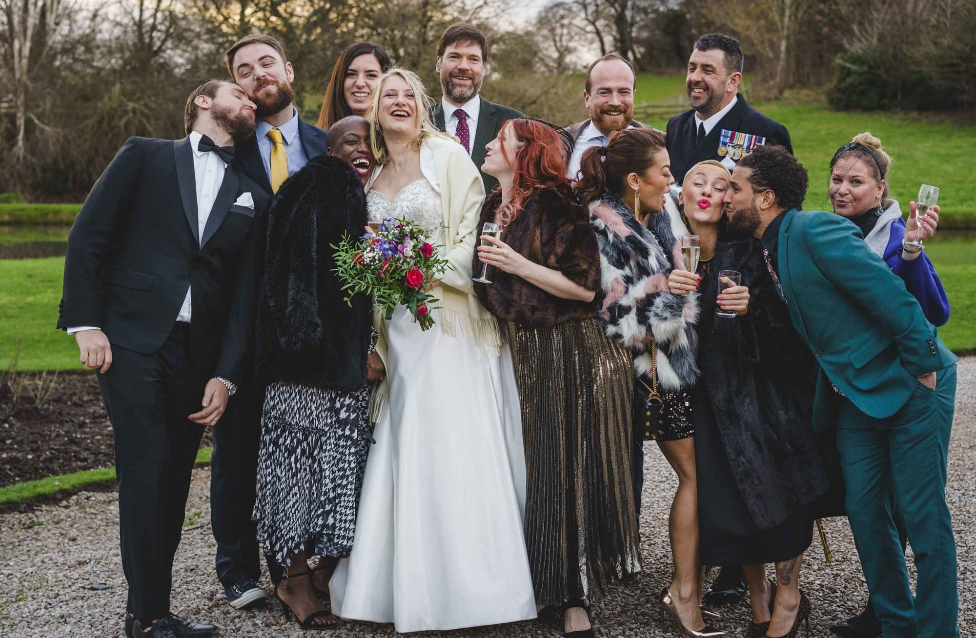 shropshire wedding and portrait photographer captures guests at a wedding