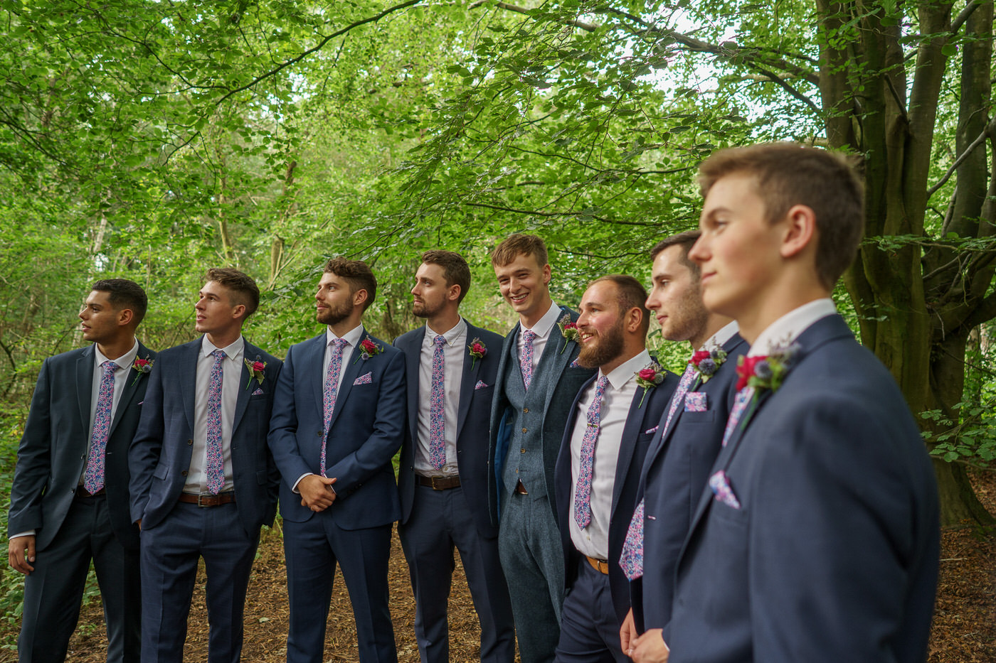 wedding photographer in shropshire captures groomsmen at wedding