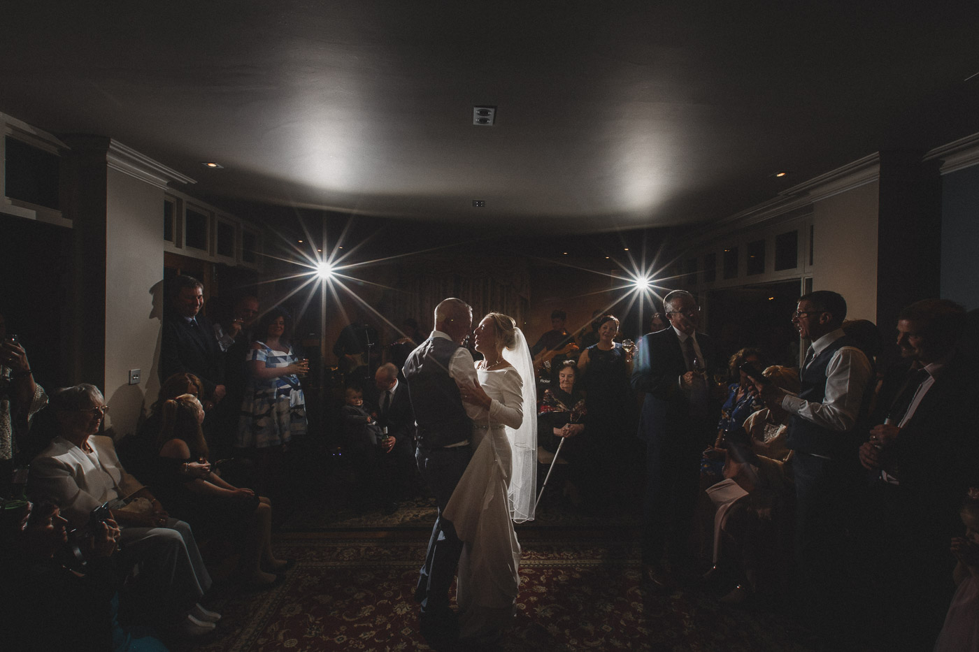 bride and groom on their first dance at Mere Brook House, Liverpool