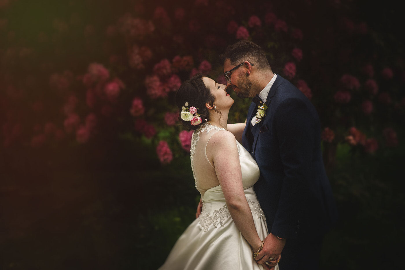 bride and groom portraits at a beautiful Walcot Hall Wedding