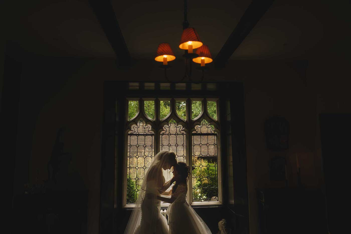 Bride and her daughter in shropshire