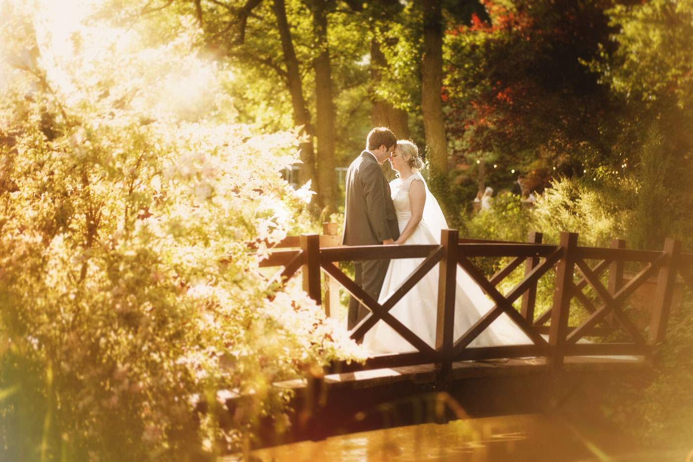 Bride and groom at Mill Barns Wedding Venue, image taken by the best wedding photographer in Shropshire