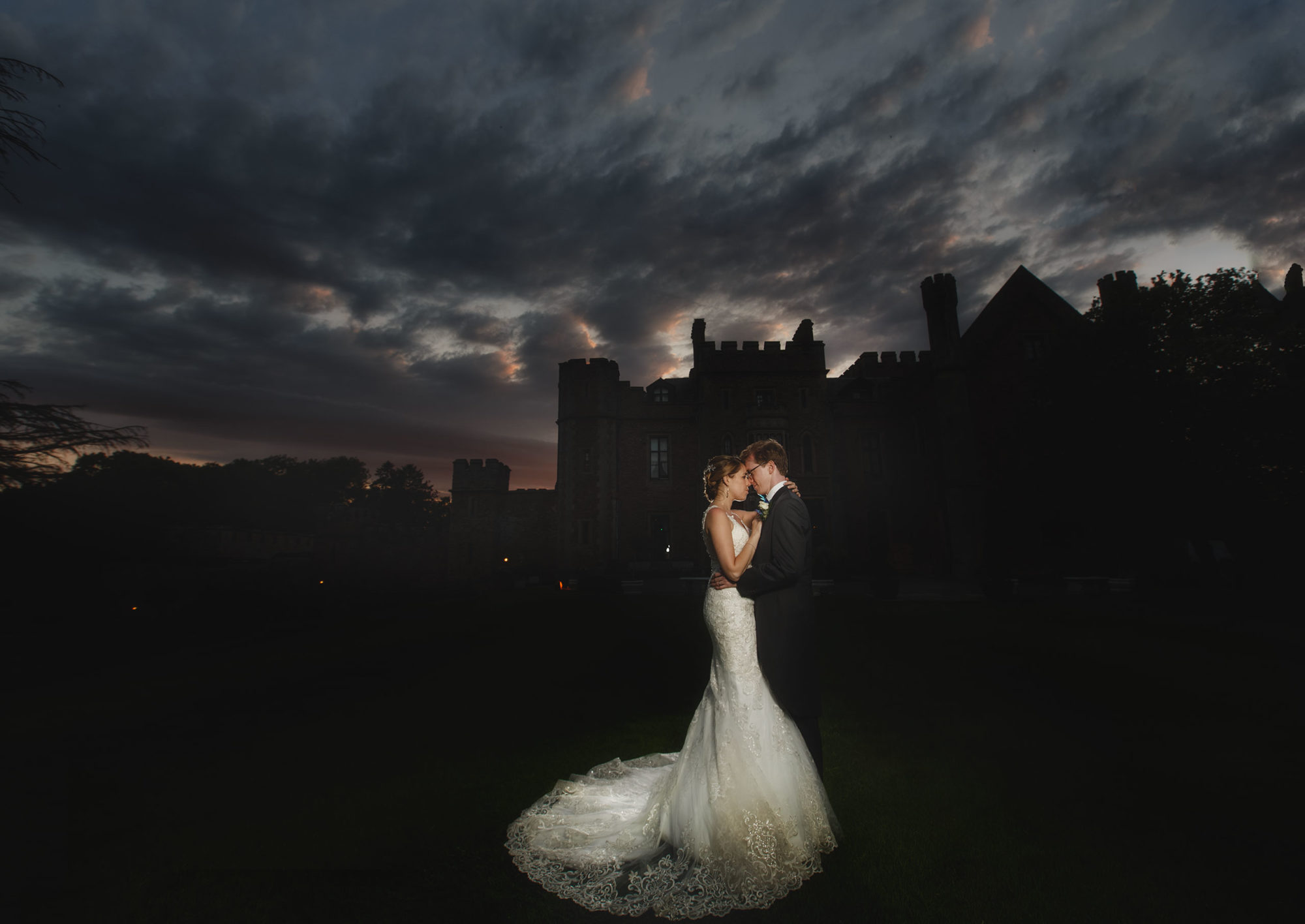 rowton castle is the perfect setting for the bride and groom