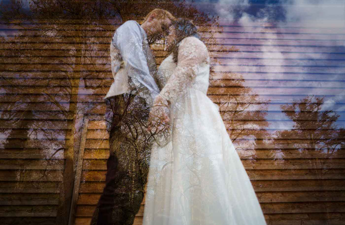 Bride and Groom at Mill Barns Wedding Venue