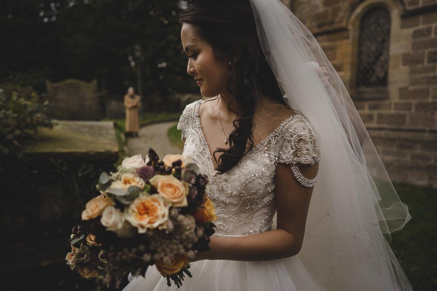 The beautiful Bride awaits at the Church